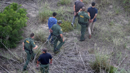 U.S. Agents Take Undocumented Immigrants Into Custody Near Tex-Mex Border