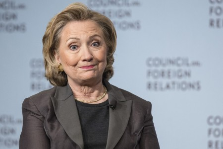 """Former U.S. Secretary of State Hillary Clinton participates in """"A Conversation with Hillary Rodham Clinton"""" in Manhattan, New York"""