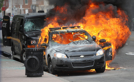Riots break out in Baltimore