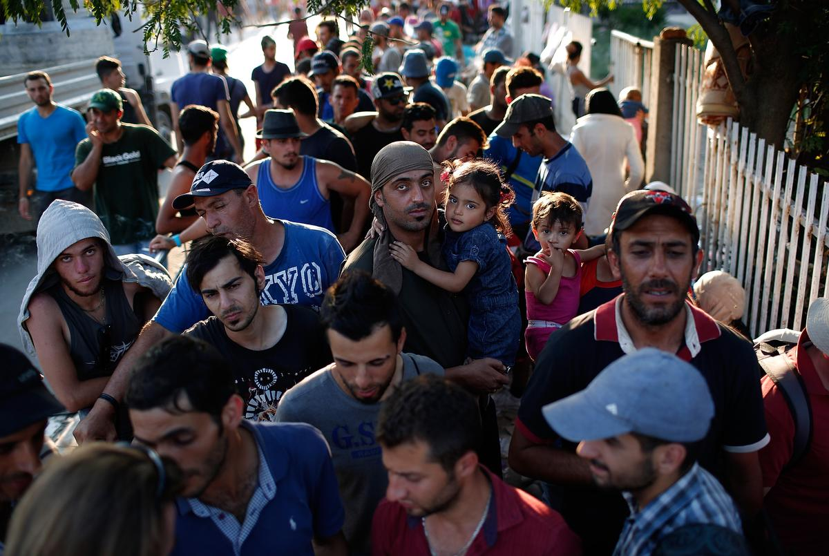 Serbian Authorities Process Migrants As They Make Their Way Through Europe